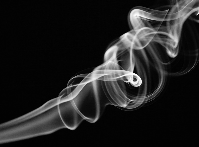 smoke curling